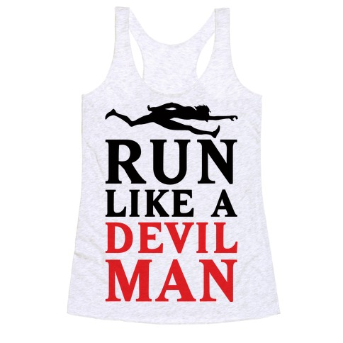 Run Like A Devilman Racerback Tank Top