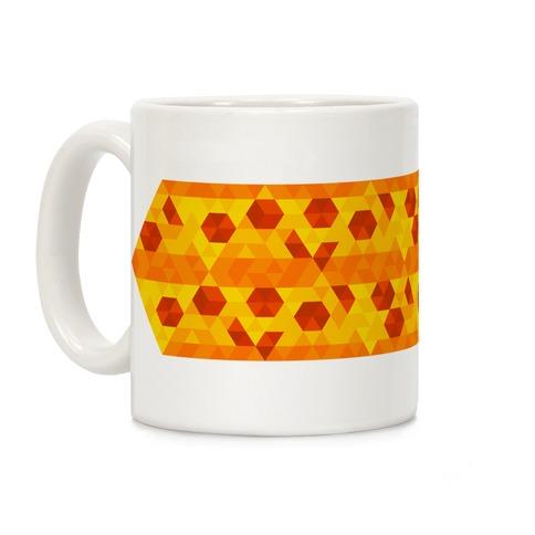 Geometric Pizza Tessellation Coffee Mug