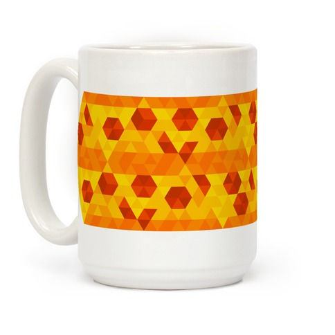 Geometric Pizza Tessellation Coffee Mug
