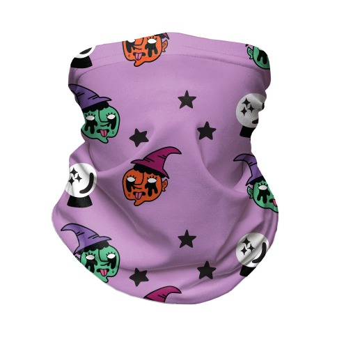 Witchy Vibes Pattern Neck Gaiter