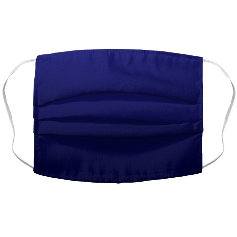 Navy Gradient Accordion Face Mask