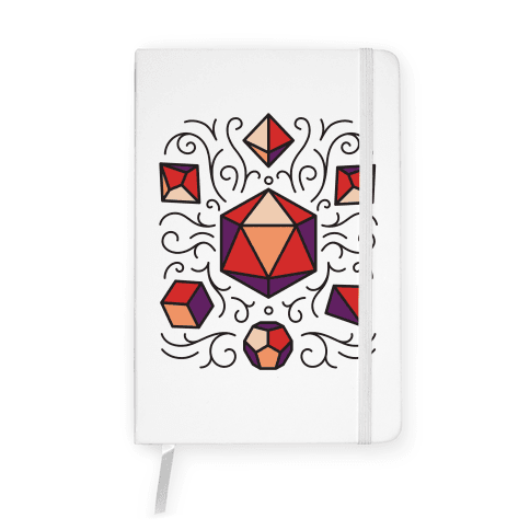DnD Dice Set Pattern Notebook