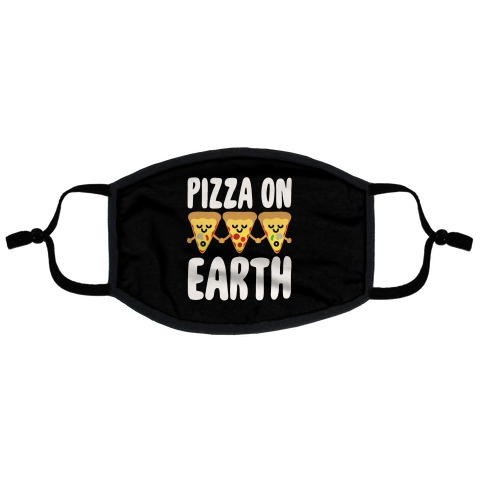 Pizza On Earth Flat Face Mask