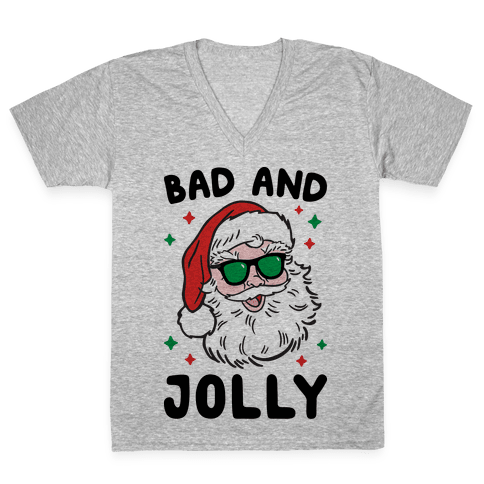 Bad And Jolly V-Neck Tee Shirt