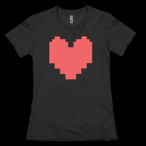 Undertale Pixel Heart Womens T-Shirt
