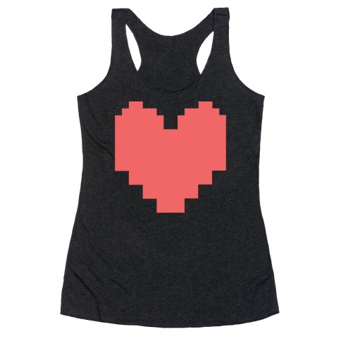 Undertale Pixel Heart Racerback Tank Top