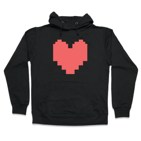 Undertale Pixel Heart Hooded Sweatshirt