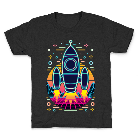 Synthwave Space Exploration Kids T-Shirt