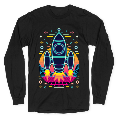 Synthwave Space Exploration Long Sleeve T-Shirt