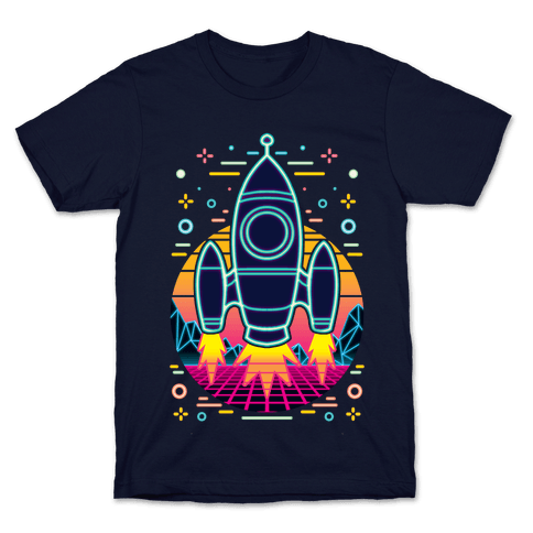 Synthwave Space Exploration Mens/Unisex T-Shirt