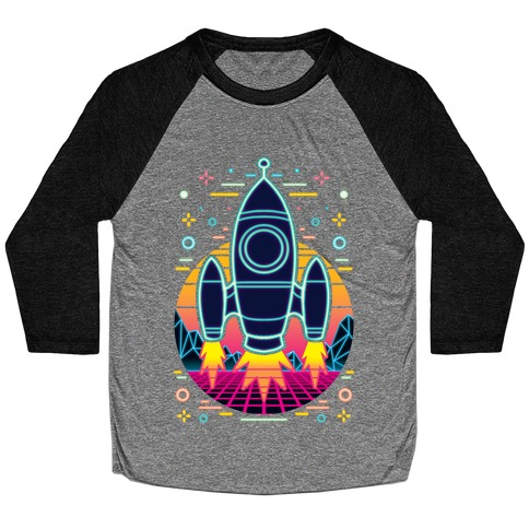 Synthwave Space Exploration Baseball Tee