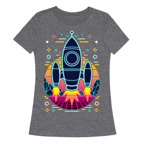 Synthwave Space Exploration Womens T-Shirt