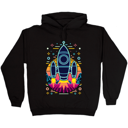 Synthwave Space Exploration Hooded Sweatshirt