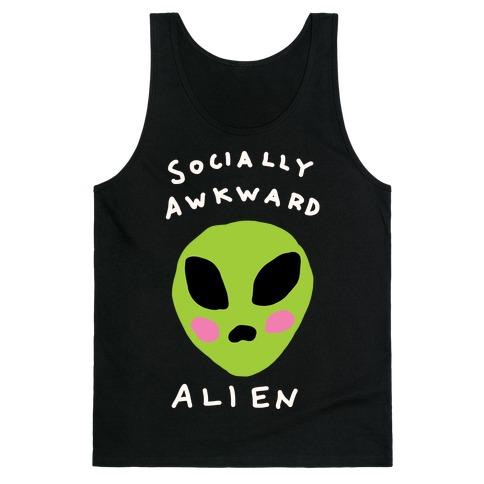 Socially Awkward Alien Tank Top