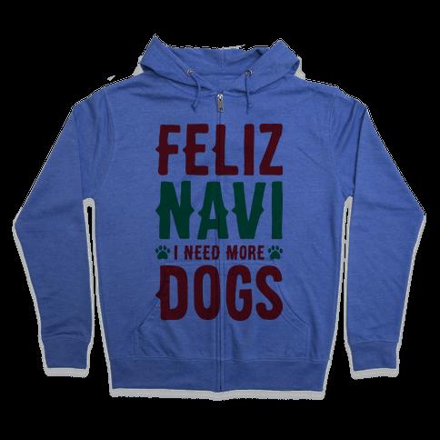 Feliz Navi Dogs Zip Hoodie