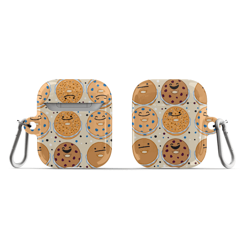 Bagels Are Everything Pattern AirPod Case