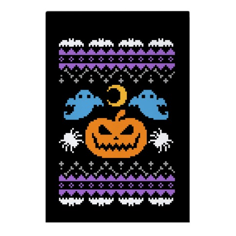 Ugly Halloween Sweater Garden Flag