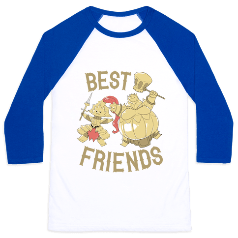 Best Friends Ornstein and Smough Baseball Tee
