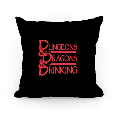 Dungeons & Dragons & Drinking Pillow