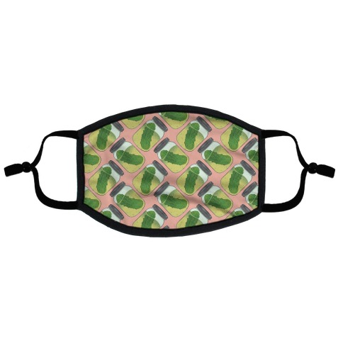 Perfect Pickle Pattern Flat Face Mask