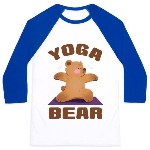 Yoga Bear Baseball Tee