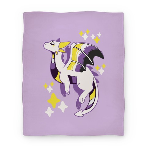 Non-Binary Pride Dragon Blanket