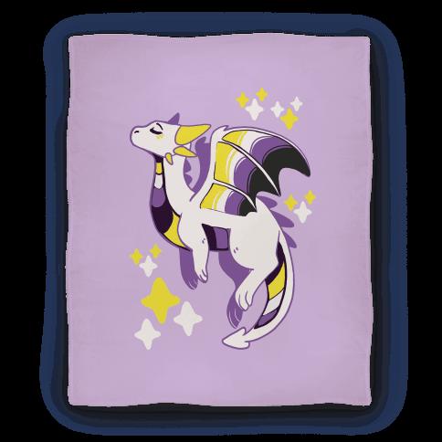 Non-Binary Pride Dragon Blanket