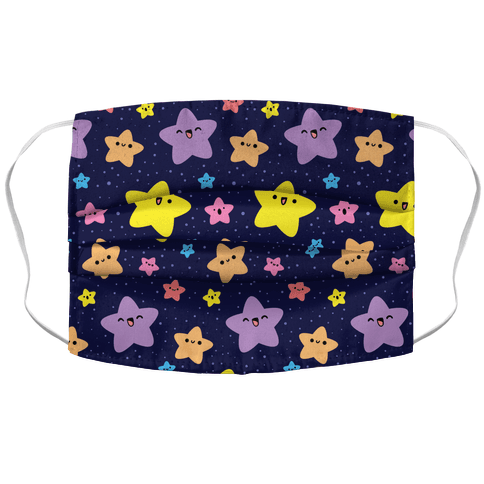 Cute Stars Pattern Face Mask Cover