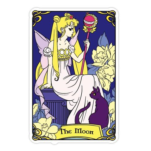 The Moon Tarot Die Cut Sticker