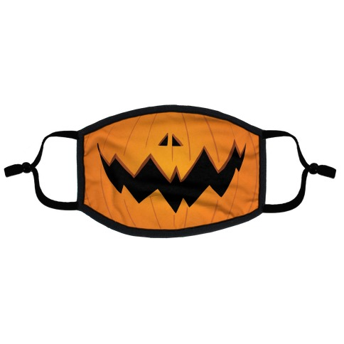Jack-o-lantern mouth Flat Face Mask