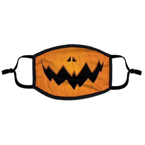 Jack-o-lantern mouth Flat Face Mask | LookHUMAN