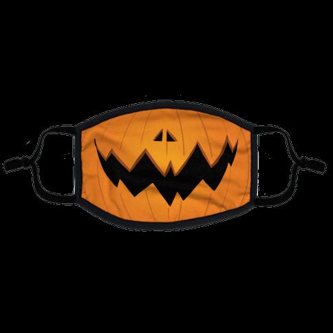 Jack-o-lantern mouth Flat Face Mask