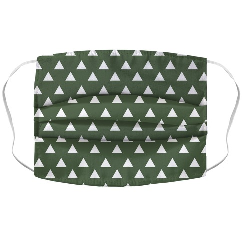 Triangle Chive and White Pattern Accordion Face Mask