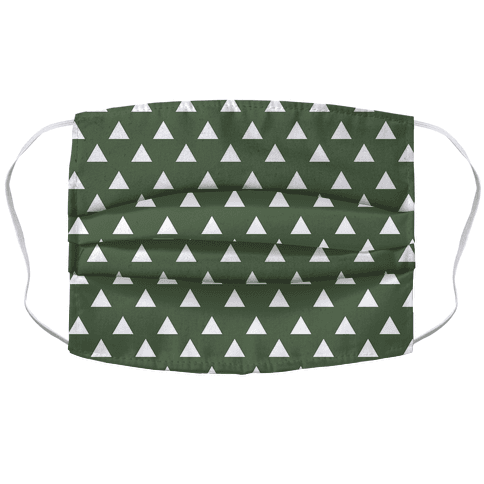 Triangle Chive and White Pattern Face Mask Cover