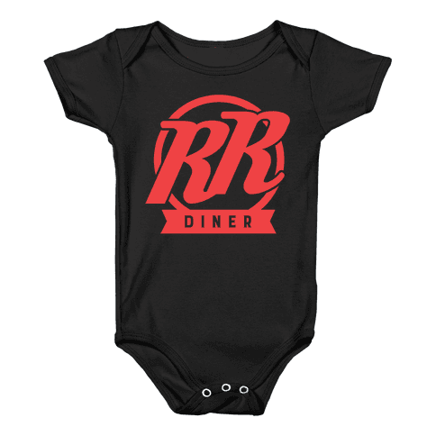 Double R Diner Logo Baby Onesy