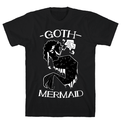Goth Mermaid Mens T-Shirt