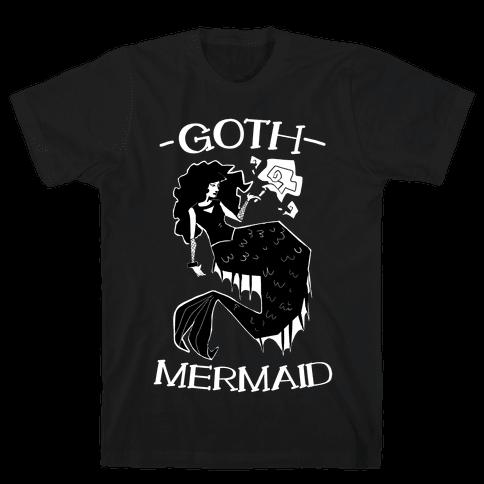 Goth Mermaid Mens T-Shirt