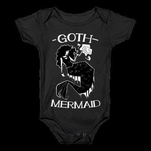 Goth Mermaid Baby Onesy