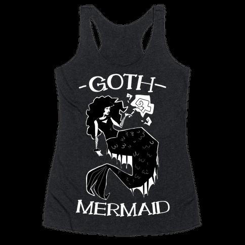 Goth Mermaid Racerback Tank Top