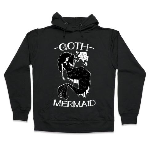Goth Mermaid Hooded Sweatshirt