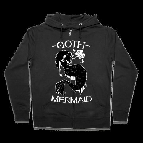 Goth Mermaid Zip Hoodie