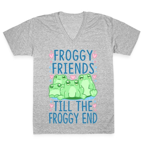 Froggy Friends Till The Froggy End V-Neck Tee Shirt