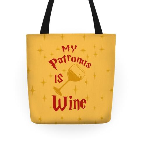 My Patronus Is Wine Tote