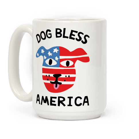 Dog Bless America Coffee Mug