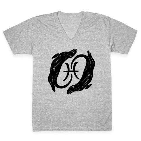 Otterly Emotional Pisces V-Neck Tee Shirt