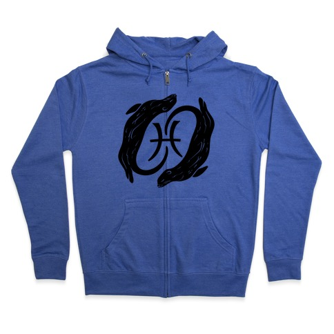 Otterly Emotional Pisces Zip Hoodie