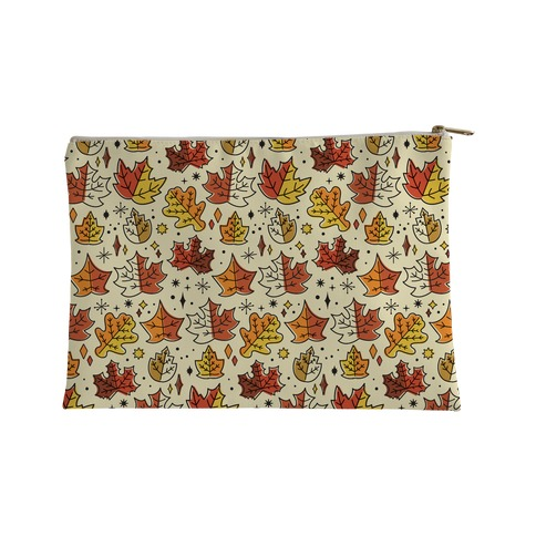 Mid Century Modern Fall Leaves Accessory Bag