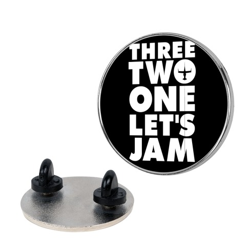 Three Two One Let's Jam Cowboy Bebop Pin