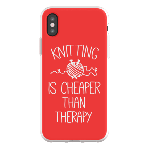 Knitting Is Cheaper Than Therapy Phone Flexi-Case