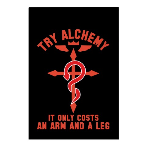 Alchemy It Only Costs an Arm and a Leg Garden Flag